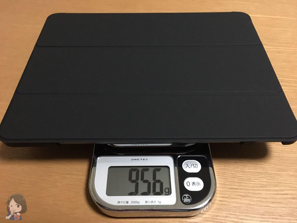 iPad Pro(ケースつき)の重さ