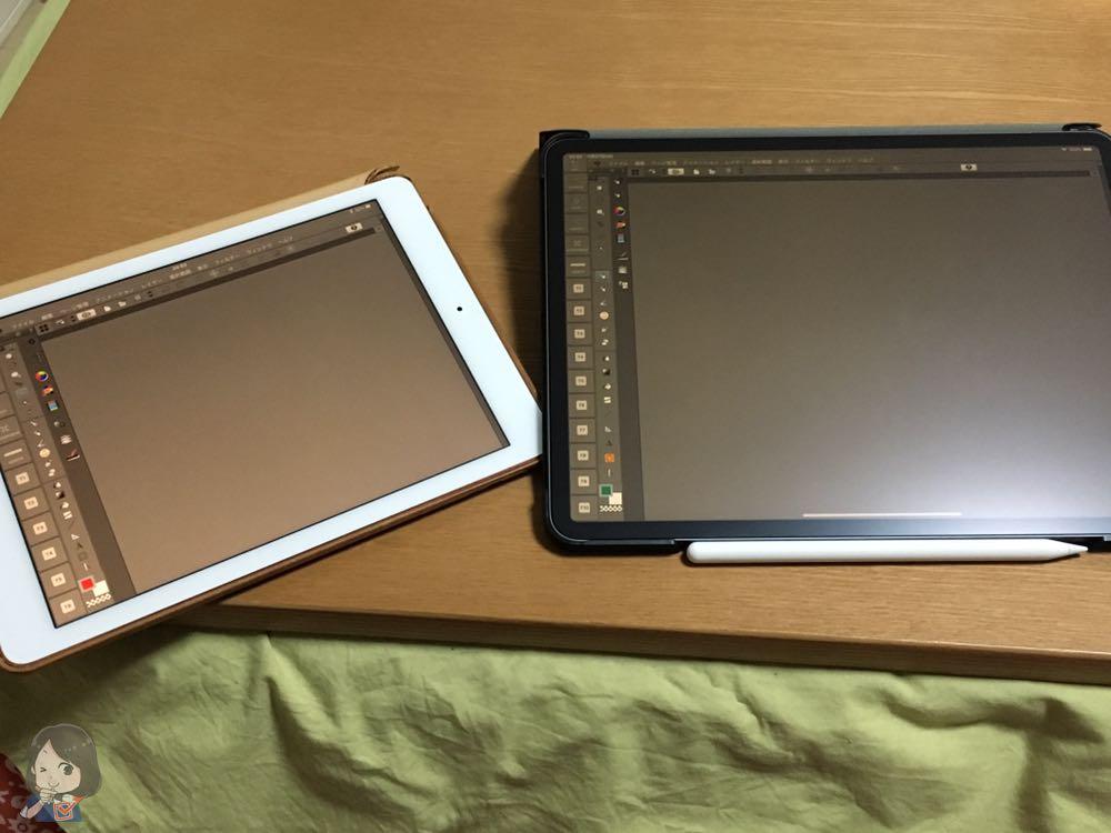 iPad Pro 9.7インチと12.9インチの比較
