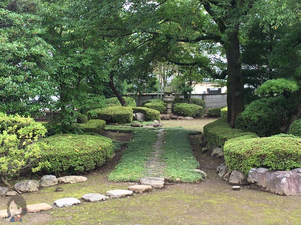 川越城本丸御殿の庭